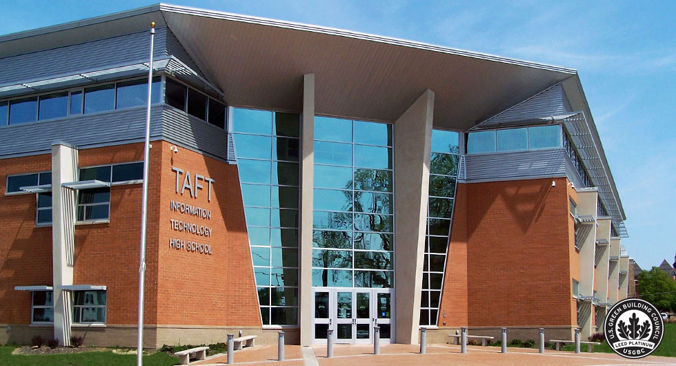 Taft High School as one of 10 super rad LEED public projects