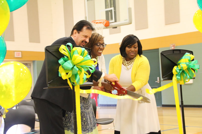 "Ribbon Cutting @ Hays-Porter ""High-Tech"" Elementary (Aug. 17, 2016)"