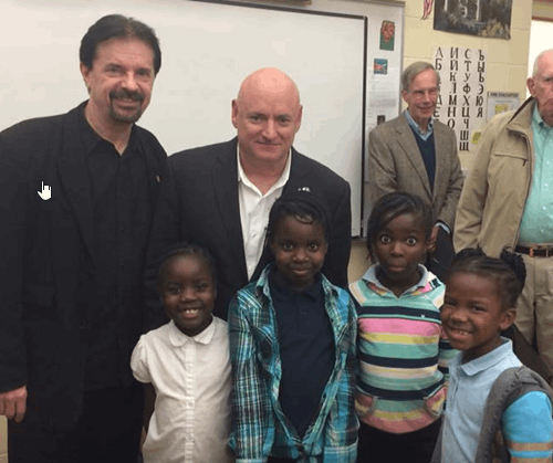Hays-Porter Students meet NASA Astronaut Scott Kelly