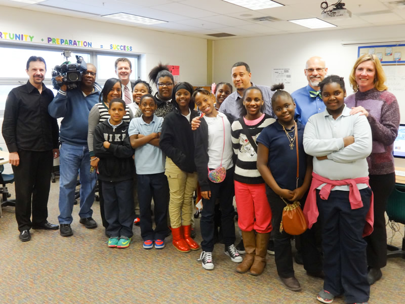 Channel 5 TV visiting Computer Class @ Hays Porter Elementary School