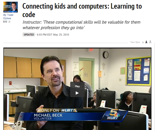 Hays Porter's computer classes featured on Channel 5 TV (May 25, 2015)