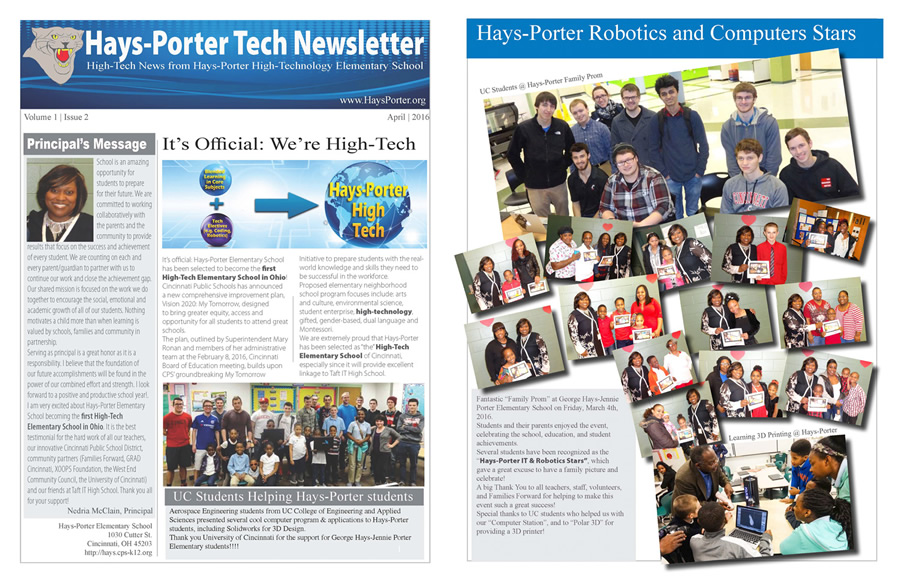 "It's official! Hays-Porter is the first ""High-Tech Elementary School"" in Ohio!!!"