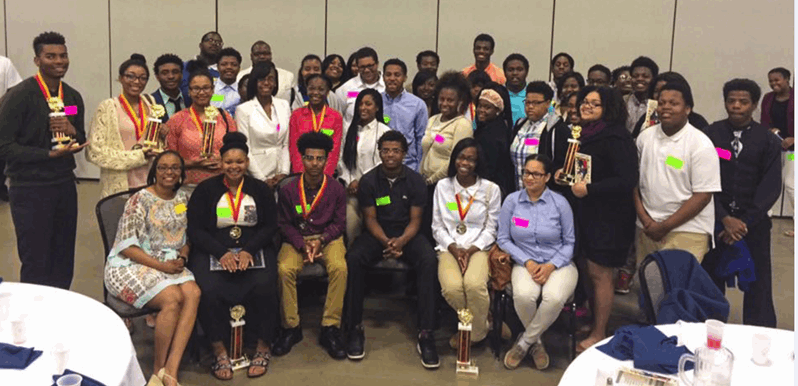 Taft IT HS winners at JCG's Career Development Conference (April 21, 2016)