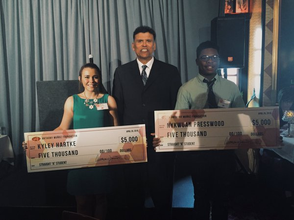 "Taft IT High School's Presswood  wins Straight ""A"" Scholarship from Anthony Muñoz Foundation"